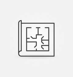 floor plan linear icon vector image