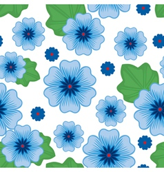 flower seamless blue vector image