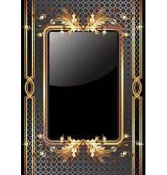 golden frame poster vector image