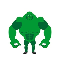 Green Goblin on a white background Strong monster vector image