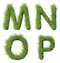 Green Grass Alphabet M N O P vector