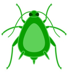 Greenfly insect icon vector