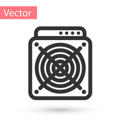 Grey asic miner icon isolated on white background vector