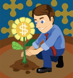 grow money vector image