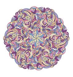 hand drawn mandala vector image