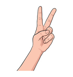 Hand gesture comic book pop art isolated vector