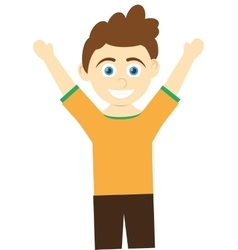 happy boy with open arms icon vector image