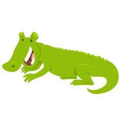 Happy crocodile wild animal character vector