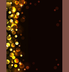 holiday golden background vector image