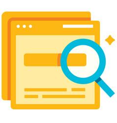 keyword suggestion flat vector image