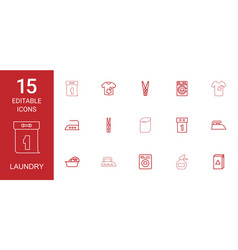 laundry icons vector image