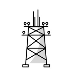 line towel energy technology and industrial vector image