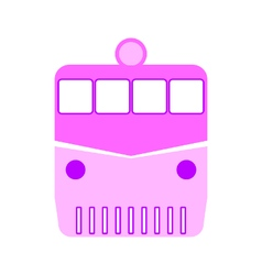 Locomotive symbol icon on white vector image