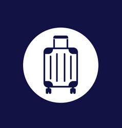 Luggage bag icon on white vector