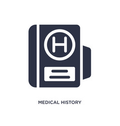 medical history icon on white background simple vector image
