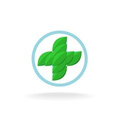 Medicine cross logo vector image