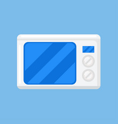 microwave isolated icon on blue background vector image vector image
