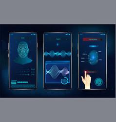 Modern identification smartphone app vector