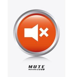 Mute design vector