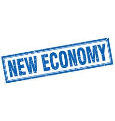New economy square stamp vector