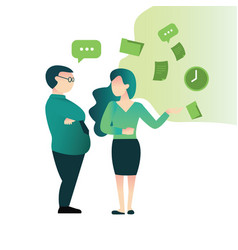 office worker employee discussion talk meeting vector image
