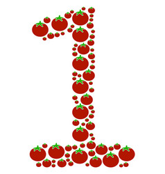 One digit collage of tomato vector