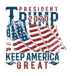 President trump 2020 keep america great vector