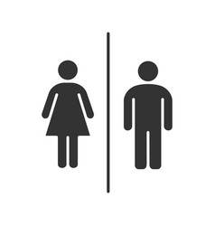 public toilet information sign glyph icon vector image