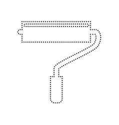 roller sign black dotted vector image