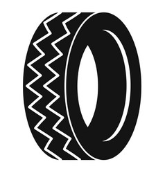 Round tire icon simple style vector