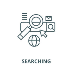 searching line icon linear concept vector image