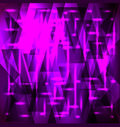 Shiny purple pattern of shards and triangles with vector