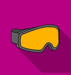 Ski goggles icon in flate style isolated on white vector