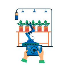 smart farm agricultural irrigation advanced vector image