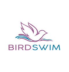 Swimming pigeon logo vector