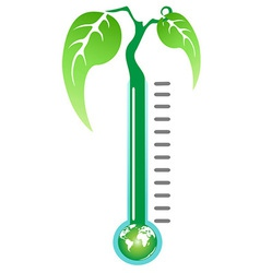 Thermometer plant vector