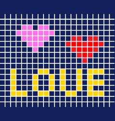 tile card love vector image