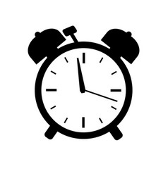 time icon isolated on white background vector image