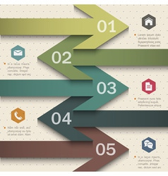Trendy banner arrow design for infographics vector