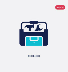 two color toolbox icon from electrian connections vector image