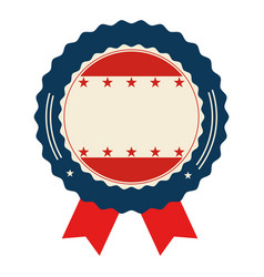 united states of america seal with ribbon vector image