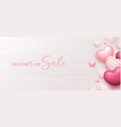 valentines day sale colorful balloon pink heart vector image