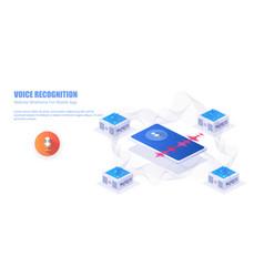 Voice recognition voice assistant modern concept vector