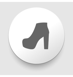 Womens shoes icon vector