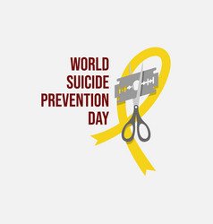 world suicide prevention day flat design vector image