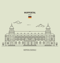 Wuppertal stadthalle in wuppertal vector