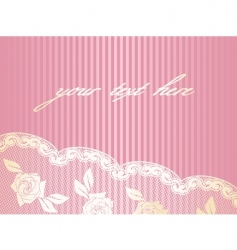 decorative lace background vector image vector image