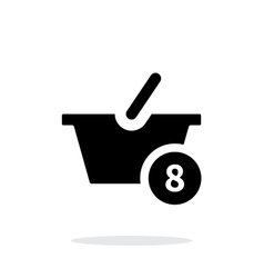 Basket with number simple icon on white background vector image