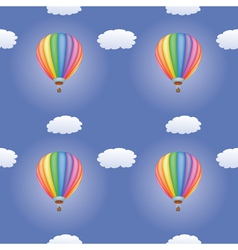 pattern with hot air balloons vector image vector image