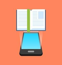 Smartphone e-book reading concept isometric design vector
